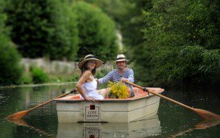 couple en barque